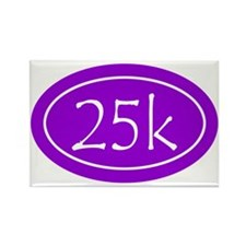 Purple 25k Oval Rectangle Magnet