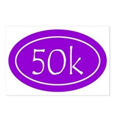 Purple 50k Oval Postcards (Package of 8)