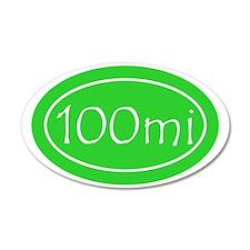 Lime 100 mi Oval Wall Sticker