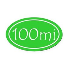 Lime 100 mi Oval Oval Car Magnet
