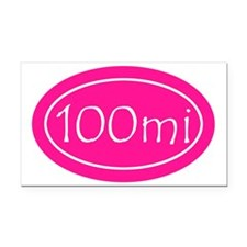 Pink 100 mi Oval Rectangle Car Magnet