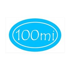 Sky Blue 100 mi Oval Wall Decal