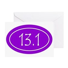 Purple 13.1 Oval Greeting Card