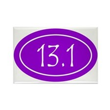 Purple 13.1 Oval Rectangle Magnet