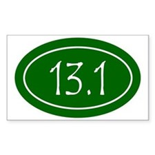 Green 13.1 Oval Decal