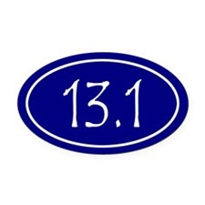 Blue 13.1 Oval Oval Car Magnet