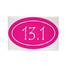 Pink 13.1 Oval Rectangle Magnet