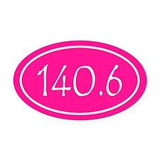 Pink 140.6 Oval Oval Car Magnet