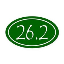 Green 26.2 Oval Oval Car Magnet