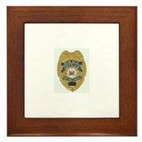 Police Officer Badge... Framed Tile