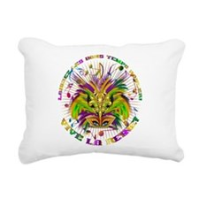 Mardi Gras Queen 4 Rectangular Canvas Pillow