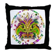 Mardi Gras Queen 4 Throw Pillow
