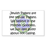 Jewish Pagans Rectangle Decal