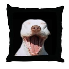 Pitty Yawn Throw Pillow