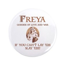 "Freya Love and War 3.5"" Button (100 pack)"