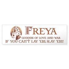 Freya Love and War Bumper Car Sticker