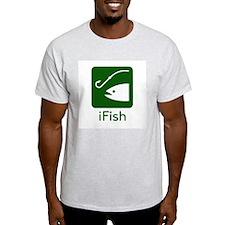 iFish Ash Grey T-Shirt