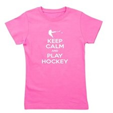 Keep Calm and Play Hockey Girl's Tee