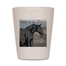 Love is a Rescue Shot Glass