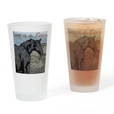 Love is a Rescue Drinking Glass