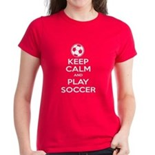 Keep Calm and Play Soccer - Ball Tee