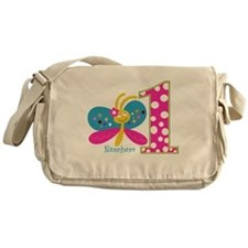 Butterfly First Birthday Messenger Bag