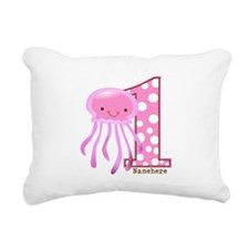 Pink Jelly Fish First Birthday Rectangular Canvas