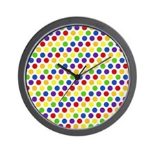 Multi Color Small Polka Dots (2) Wall Clock