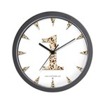 Tortoise Shell 1 Wall Clock