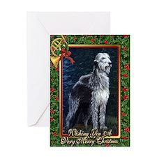 Irish Wolfhound Dog Christmas Greeting Card