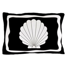 Black | White Clamshells Seashells Pillow Case
