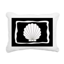 Black | White Clamshells Seashells Rectangular Can