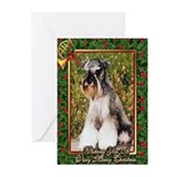 Schnauzer christmas Greeting Cards (10 Pack)