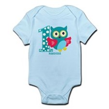 Cute First Birthday Owl Infant Bodysuit