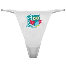 Cute First Birthday Owl Classic Thong