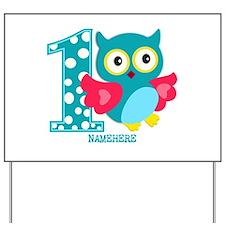 Cute First Birthday Owl Yard Sign