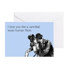 VDay Love You Like A Cannibal Greeting Card