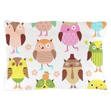 Cute Owls Pillow Case
