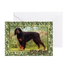 Gordon Setter Dog Christmas Greeting Cards (Pk of
