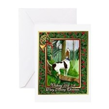 Treeing Walker Coonhound Dog Christmas Greeting Ca