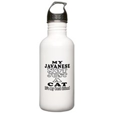 Javanese Cat Designs Sports Water Bottle