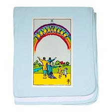 TEN OF CUPS Tarot Card baby blanket