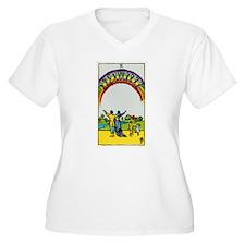 TEN OF CUPS Tarot Card Plus Size T-Shirt