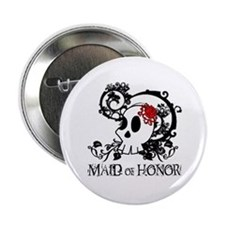 "Skull Maid of Honor 2.25"" Button"