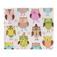 Cute Owls Throw Blanket