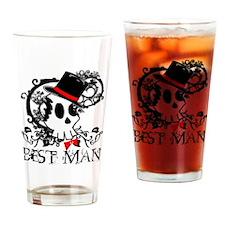 Skull Best Man Drinking Glass