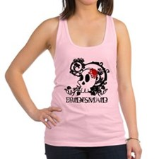 Skull Bridesmaid Racerback Tank Top