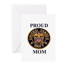 USN MOM Greeting Cards (Pk of 10)