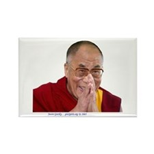 Dalai Lama - Make Bliss Happen - Rectangle Magnet