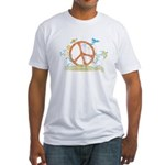 Colorful Peace Sign Fitted T-Shirt